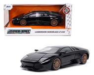 LAMBORGHINI MURCIELAGO LP 640 GLOSS BLACK 1/24 SCALE DIECAST CAR MODEL BY JADA TOYS 32946