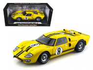 1966 Ford GT40 GT 40 MK II #8 Yellow 1/18 Scale Diecast Car Model By Shelby Collectibles SC 417