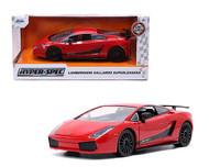 LAMBORGHINI GALLARDO SUPERLEGGERA RED 1/24 SCALE DIECAST CAR MODEL BY JADA TOYS 32945