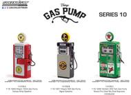 CONOCO SIGNAL TEXACO GASOLINE WAYNE GAS PUMP SET OF 3 1/18 BY GREENLIGHT 14100