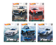 TOYOTA 2021 CAR CULTURE SET OF 5 1/64 SCALE DIECAST CAR MODEL BY HOT WHEELS FPY86-957H