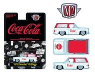 1973 CHEVROLET K5 BLAZER COCA COLA COKE HOBBY EXCLUSIVE 1/64 SCALE DIECAST CAR MODEL BY M2 MACHINES 52500-HS01