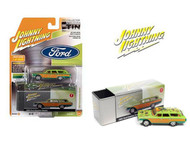 1960 FORD COUNTY RAT FINK GREEN WITH TIN BOX 1/64 SCALE DIECAST CAR MODEL BY JOHNNY LIGHTNING JLSP146 A
