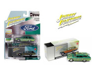 1960 FORD COUNTY RAT FINK GREEN TEAL WITH TIN BOX 1/64 SCALE DIECAST CAR MODEL BY JOHNNY LIGHTNING JLSP146 B