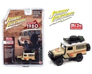 1980 TOYOTA LAND CRUISER BEIGE 3600 MADE EXCLUSIVE 1/64 SCALE DIECAST CAR MODEL BY JOHNNY LIGHTNING JLCP7364