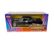 1965 CHEVROLET IMPALA SS 396 BLACK LOWRIDER 1/24 SCALE DIECAST CAR MODEL BY WELLY 22417