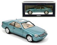 1997 MERCEDES BENZ CL600 LIGHT BLUE METALLIC 1/18 SCALE DIECAST CAR MODEL BY NOREV 183448