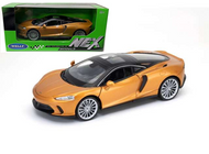 MCLAREN GT GOLD 1/24 SCALE DIECAST CAR MODEL BY WELLY 24105