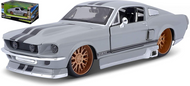 1967 FORD MUSTANG GT GRAY CLASSIC MUSCLE 1/24 SCALE DIECAST CAR MODEL BY MAISTO 31094