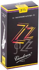 Vandoren ZZ Jazz Alto Saxophone Reeds, Strength 3.5, 10 Pack