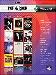 2011 Pop & Rock Sheet Music Playlist