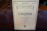 Schirmer's Library of Musical Classics Chopin Op: 11 Concerto In E Minor for the Piano Vol. 1350