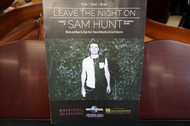 Leave The Night On by Sam Hunt Piano/Vocal/Guitar