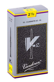 Vandoren CR1925 Bb Clarinet V.12 Reeds Strength 2.5; Box of 10