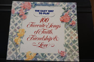 Used Vintage Book- The easy way to play 100 Favorite Songs of Faith, Friendship, and Love