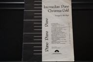 Used Vintage Book- Intermediate Piano Christmas Gold