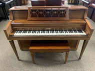 Used Wurlitzer Console Piano with Bench - Sold!