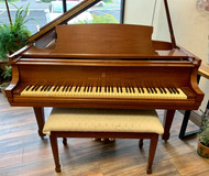 "Steinway ""L"" Walnut Satin Grand Piano with Bench"