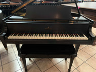 "Steinway ""S"" Black Satin Grand Piano with Bench"