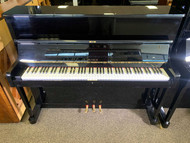 Used Petrof Upright Polished Ebony Finish