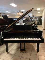 "Used Steinway ""B"" Ebony Satin Grand Piano with Matching Bench"
