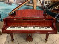 """Used Yamaha C3 6'1"""" Bubinga Polish Grand Piano with QRS Player System and Bench"""
