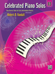 Alfred Celebrated Piano Solos, Book 3 Nine Diverse Solos for Early Intermediate Pianists