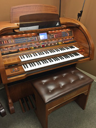Lowrey Sensation SU430 Organ with Deluxe Bench - Oak - Sold!
