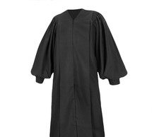 Clergy Robe in Black Pulpit Robe