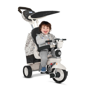 Dazzle 5-in-1 Baby Dreirad - Black & White