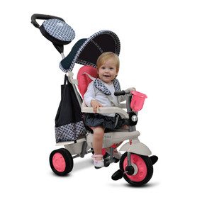 Deluxe by 4-in-1 Baby Dreirad - Pink