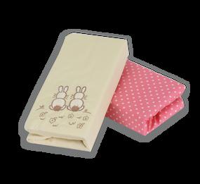 toTs® Joy 2 Stück Spannbettlaken - Pink Rabbits