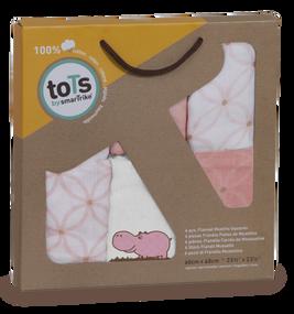 toTs® 6er Pack Mulltücher - Pink