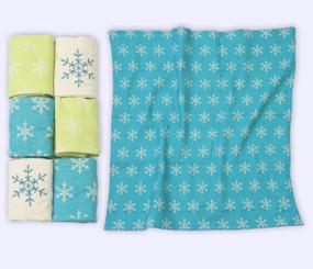 toTs® 6 Stück Flanell-Mulltücher- Blau