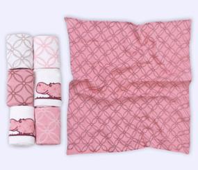 toTs® 6er Pack Flanell-Mulltücher - Pink
