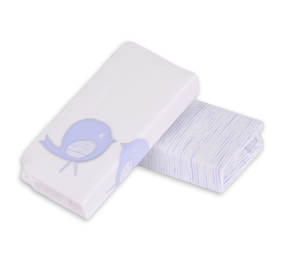 toTs® 2er Pack Classic Jersey Spannbettlaken - Blau