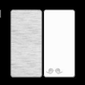 toTs® 2er Pack Classic Jersey Spannbettlaken - Grau