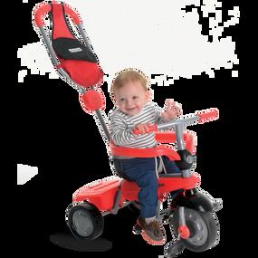 smarTrike® Breeze GL 3-in-1 Baby Dreirad - Rot / Schwarz
