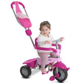 smarTrike® Breeze GL 3-in-1 Baby Dreirad - Dark Pink / Pink / Weiß