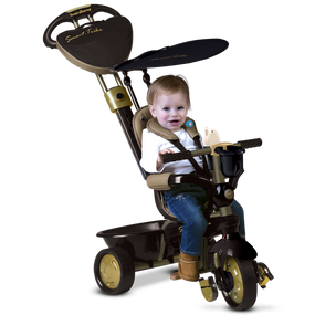 smarTrike® Dream 4-in-1 Baby Dreirad - Gold / Schwarz