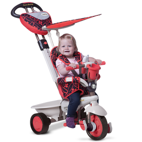 smarTrike® Dream 4-in-1 Baby Dreirad - Rot / Schwarz / Warmes grau