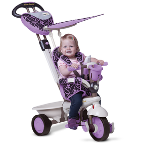 smarTrike® Dream 4-in-1 Baby Dreirad - Lila / Brown / Warmes grau
