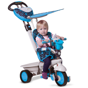 smarTrike® Dream 4-in-1 Baby Dreirad - Blau / Schwarz / Warmes grau