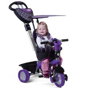 smarTrike® Dream 4-in-1 Baby Dreirad - Lila / Grau