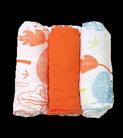 toTs® 3er Pack Bamboo Mullwindeln - Orange