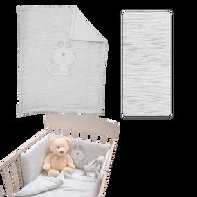 toTs® Classic Jersey Bett-Set - Grau