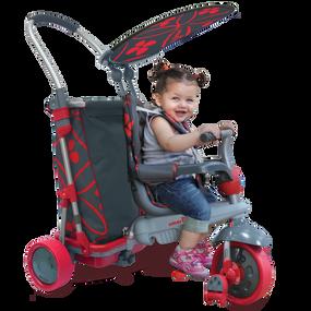 smarTrike® Smart Trike & Go 5-in-1 Baby Dreirad - Grau / Rot