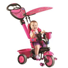 smarTrike® Zoo - Pink 3-in-1 Baby Dreirad / Schwarz Schmetterling