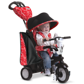 Chic 4-in-1 Baby Dreirad -Schwarz / Rot