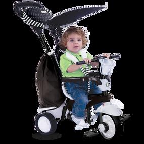 smarTrike® Spark 4-in-1 Baby Dreirad - Schwarz / Weiß
